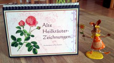 Tischaufsteller 'Alte Heilkräuter-Zeichnungen' ohne Kalendarium